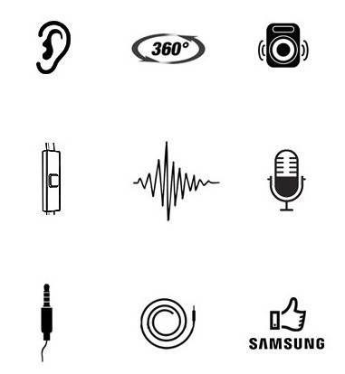 Oryg. słuchawki z mikrofonem SAMSUNG EHS64 białe zdjęcie 4