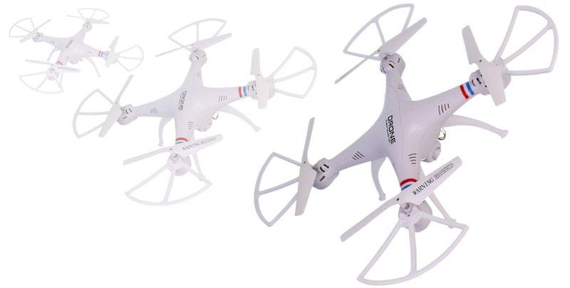 Dron TD08 II Generacji z Kamerą WiFi Podgląd na żywo 2x AKU Biały Z312 zdjęcie 2