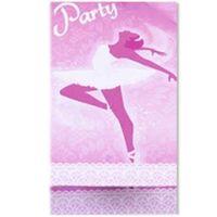 Zaproszenia z kopertą BALETNICA balet różowe 8 szt