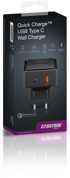 Ładowarka sieciowa Quick Charge™ USB-C CABSTONE zdjęcie 2