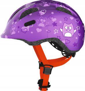 Kask dziecięcy Abus Smiley 2.0 purple star S-45-50
