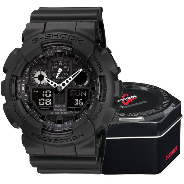 Zegarek Casio G-shock GA-100-1A1ER czarny zdjęcie 1