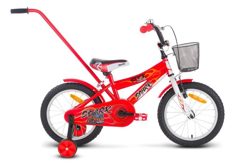 Rower 16 ROCK KIDS SPARK czerwony zdjęcie 1