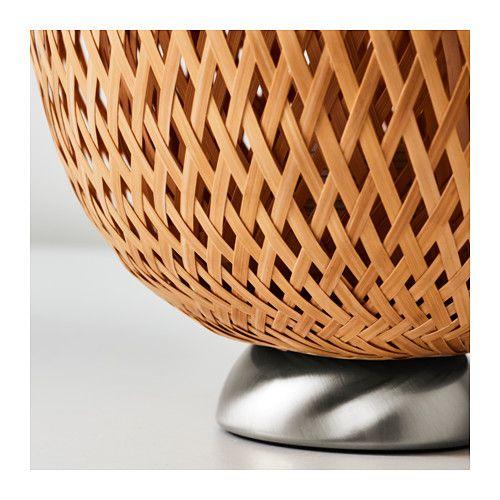 Lampa Stołowa Bambusowa Rattan Boja Ikea Arenapl