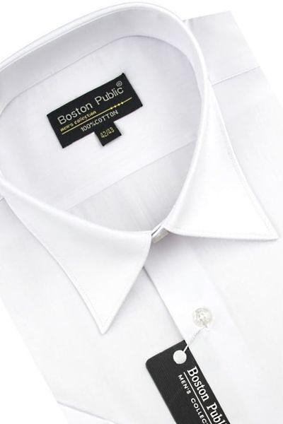 Koszula Męska Boston Public gładka biała na krótki rękaw K541 S 38 170/176 zdjęcie 2