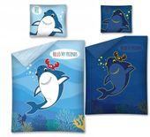 Pościel 160x200 Świecąca w Ciemności Dziecięca Rekin Shark Ryby Rybki