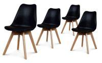 Zestaw 4 nowoczesne krzesło modern DSW retro CZARNY C-487