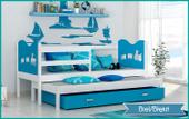 Łóżko parterowe MAX P2 COLOR 190x80  szuflada + materace