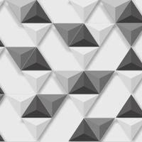 Tapeta Nowoczesna TRÓJKĄTY Biało Czarno Szara Efekt 3D L57509 Ugepa