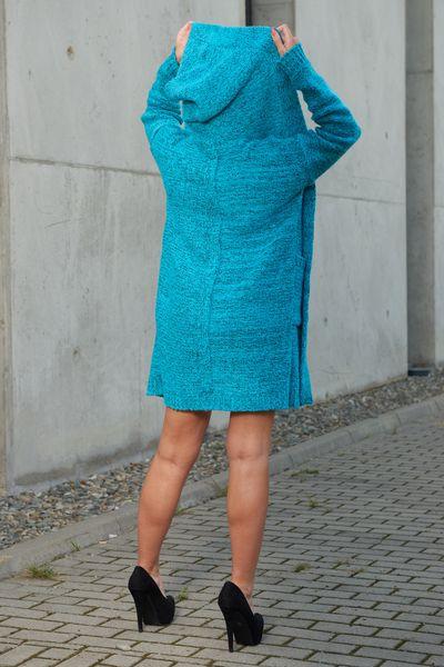 Mięciutki otulający Kardigan sweter melanż 103 zdjęcie 3