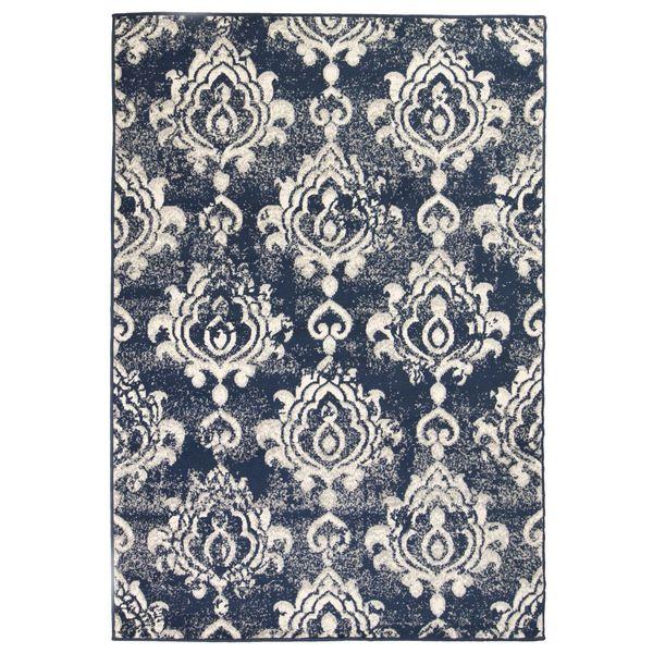 Nowoczesny dywan, wzór Paisley, 120 x 170 cm, beżowo-niebieski zdjęcie 1