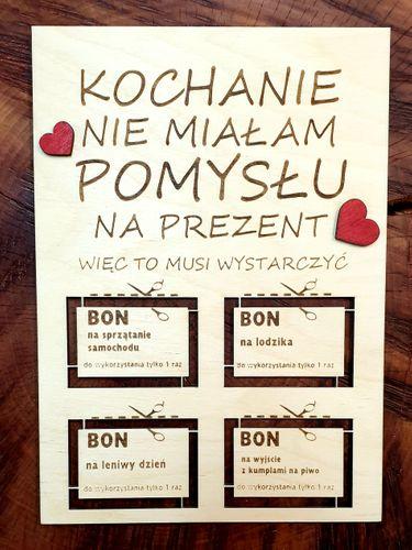 BON DLA NIEGO walentynki 2020 super prezent na Arena.pl