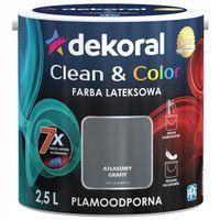 Dekoral Clean & Color 2,5L ATŁASOWY GRAFIT