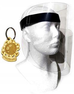 Osłona antybakteryjna, ochrona twarzy rzep LOGO V1