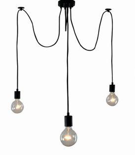 Lampa LOFT PAJĄK EDISON żyrandol NORDIC 3 ramiona