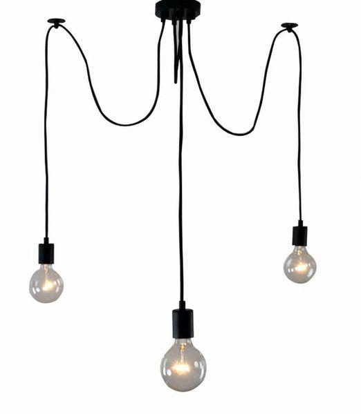 Lampa LOFT PAJĄK EDISON żyrandol NORDIC 3 ramiona zdjęcie 1