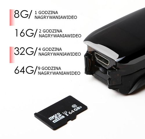 Kamera szpiegowska w bransoletce Full HD smartband kolory na Arena.pl