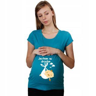 Koszulka ciążowa Jestem w drodze dla Mam t-shirt