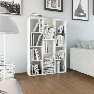 Przegroda/regał na książki wysoki połysk biały 100x24x140cm VidaXL