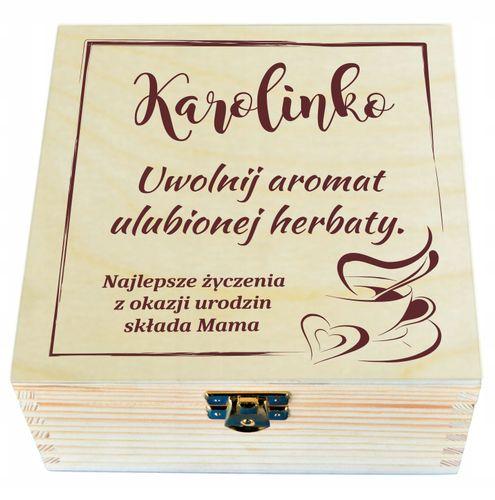 Pudełko ZESTAW na PREZENT z HERBATA + GRAWER na Arena.pl