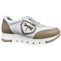 Półbuty Eksbut 5852 biały beż Rozmiar obuwia - 38, Kolor - Biały