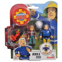 Simba - Strażak Sam 2 Figurki z akcesoriami Derek i Steele