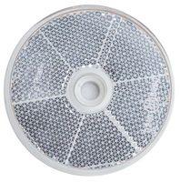Odblask okrągły fi 60 mm biały z otworem