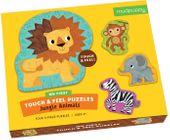 ZWIERZĄTKA z dżungli puzzle dotykowe lew MUDPUPPY