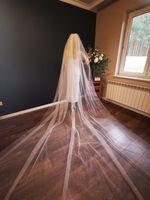 Welon ślubny długi ślub 4m brokatowy kościelny PL