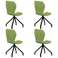 Krzesła stołowe, 4 szt., zielone, sztuczna skóra