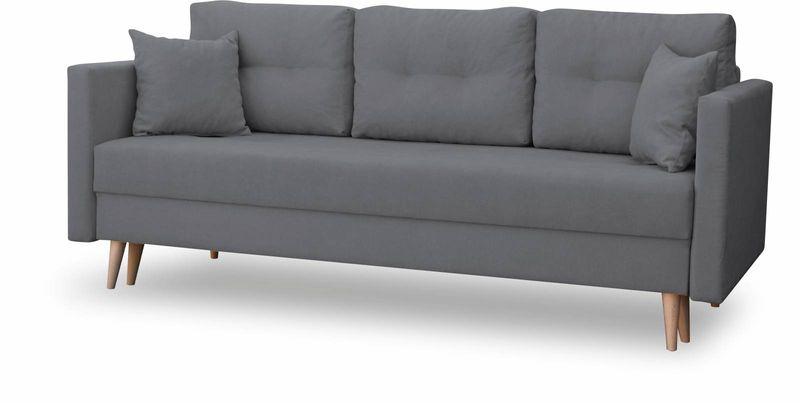 Kanapa rozkładana z funkcją spania na sprężynach, zmywalna sofa Lahti zdjęcie 4