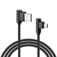 WZMACNIANY KABEL MICRO USB KĄT KĄTOWY 90 STOPNI