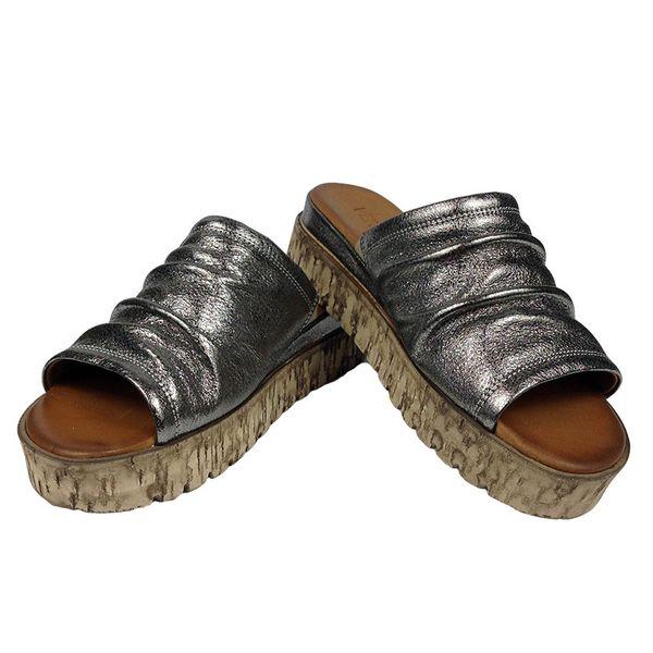 0ffee350 Klapki Venezia 16010528737 C Rozmiar obuwia - 37, Kolor - Srebrny zdjęcie 3