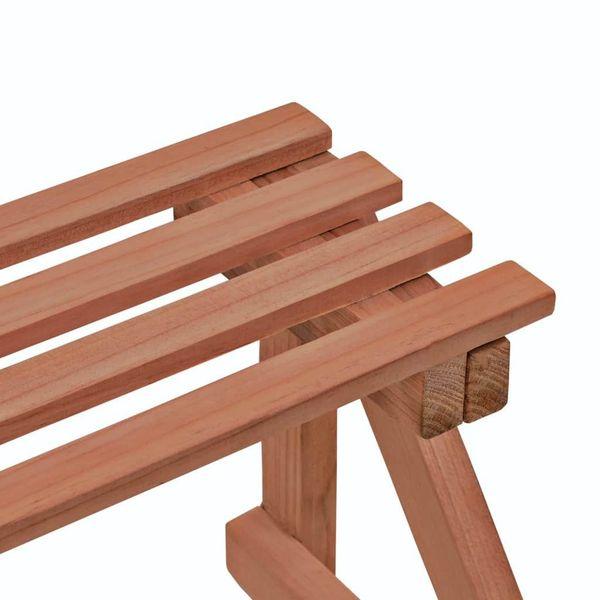 3-Piętrowy Regał Na Rośliny Z Drewna Cedrowego, 48 X 45 X 40 Cm zdjęcie 4