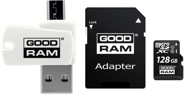 Karta Pamięci Goodram 128 Gb Czytnik Kart Microsdhc