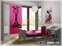 Naklejka dekoracyjna D 92, D92, żyrafa Rozmiar - XL, Kolor - Czarny, Odbicie lustrzane - Nie