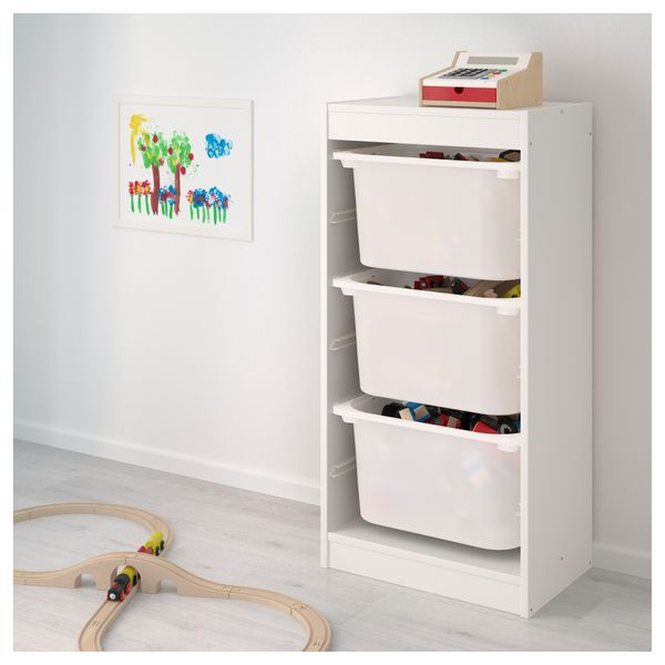 Ikea Trofast Regał Na Zabawki 3 Pojemniki Białybiały