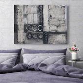 Obraz na płótnie - Canvas, Szara abstrakcja 120x80 zdjęcie 4