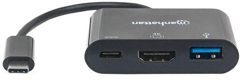 MANHATTAN MULTIPORT ADAPTER USB-C 3.1 NA HDMI/USB-A/USB-C 152037 na Arena.pl