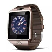 ZŁOTO BRĄZOWY zegarek smartwatch DZ09 aparat sim karta pamięci