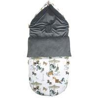 Śpiworek do wózka Dark Grey Funfair Velvet L/XL (1-3 Lat) Lanila wyprawka dla dziecka