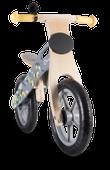 Rowerek biegowy drewniany Lionelo Casper + dzwonek - szary
