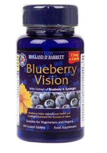 Blueberry Vision - 60 tablets Holland & Barrett