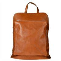 Duży plecak skórzany A4 rudy brąz skóra cielęca najwyższej jakości