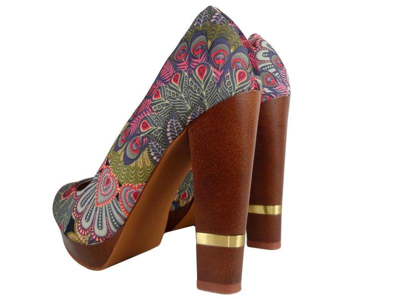 Szpilki na platformie buty na słupku kolorowe 38 zdjęcie 4