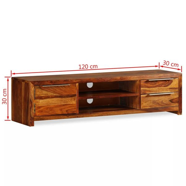 Szafka pod TV z drewna sheesham 120x30x30cm VidaXL na Arena.pl