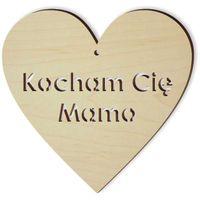 drewniana ozdoba KOCHAM CIĘ MAMO wycinana sklejka