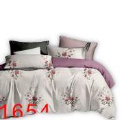 Komplet pościeli dwustronnej 160x200 + 2szt. 70x80 kwiaty na beżowym tle + różowa krateczka