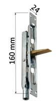 Rygiel czołowy, zasuwa do drzwi aluminiowych, szerokość 24 mm