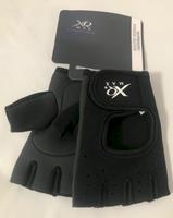Rękawiczki NEOPRENOWE bez palców na siłownię fitness rower Czarne